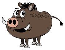 Brown boar profile Stock Photos