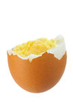 Brown boiled egg Stock Images