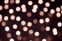 Brown-bokeh Licht, Weinlesehintergrund Stockfotografie