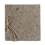 Brown Book Mulberry paper. Hand made Stock Photography