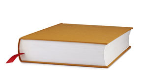 Brown book with a red bookmark Royalty Free Stock Image