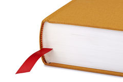Brown book with a red bookmark Royalty Free Stock Photo