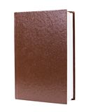 Brown book standing isolated Stock Photos