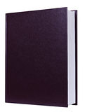 Brown book standing isolated Royalty Free Stock Photo