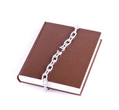 Brown book and the torn chain Stock Images