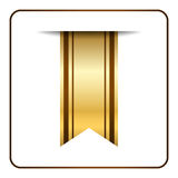 Brown bookmark banner gold Stock Photography