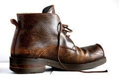 A brown boot Royalty Free Stock Images