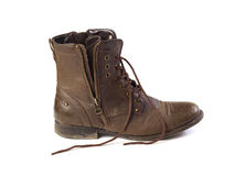 A brown boot Royalty Free Stock Photo