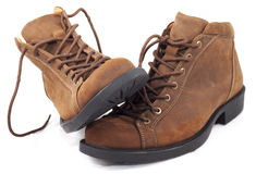 Brown boot Stock Photography