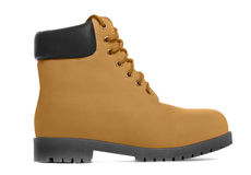 Brown boot. Side view Stock Photography