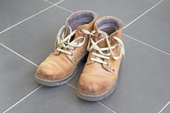 Brown boots Royalty Free Stock Image