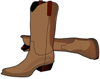 Brown Boots stock illustration