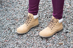 Brown boots Royalty Free Stock Images