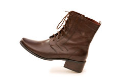 Brown boots isolated Stock Photos