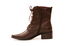 Brown boots isolated Stock Photography