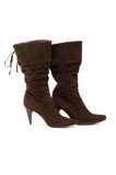 Brown boots isolated Royalty Free Stock Images