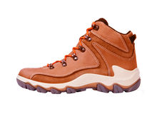 Brown boots isolated on a white Stock Images