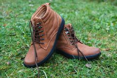 Brown boots Royalty Free Stock Photo