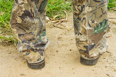 Brown boots for men Royalty Free Stock Image