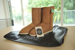 Brown boots Royalty Free Stock Photos