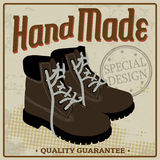 Brown boots vintage poster Royalty Free Stock Photos