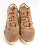 Brown boots  on white background Stock Image