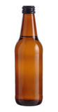 Brown Bottle of beer isolated on white background. Bottle of beer isolated on white background Royalty Free Stock Photography