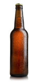 Brown bottle of beer Royalty Free Stock Photography