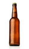 Brown bottle of beer Stock Photos