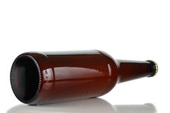 Brown bottle of beer Royalty Free Stock Photo