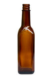 Brown Bottle with Clipping Path Stock Photo