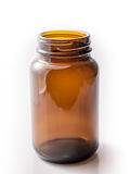 Brown bottle isoalate. Brown bottle on white background isoalate Royalty Free Stock Photo