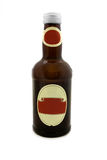 Brown bottle over white Royalty Free Stock Image