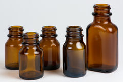 Brown bottles Stock Image
