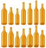 Brown Bottles set Stock Image