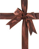 Brown bow Royalty Free Stock Image