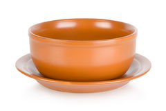 Brown bowl  Royalty Free Stock Photography
