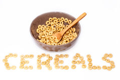 Brown bowl with cereals Royalty Free Stock Images