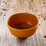 Brown bowl Stock Photography