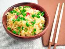 Free Brown Bowl With A Portion Of Cooked Rice Royalty Free Stock Image - 80316986