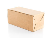 Brown box closed on  white background Royalty Free Stock Image