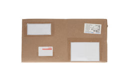 Brown box with copy space for shipping Royalty Free Stock Image