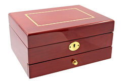 Brown box for cosmetic or jewelery Royalty Free Stock Images