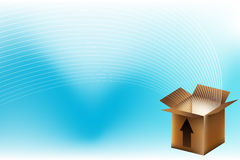 Brown Box with Energy Waves Royalty Free Stock Photography