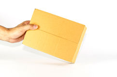 Brown box Stock Images