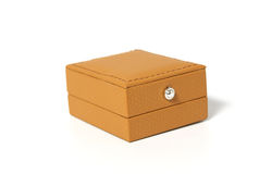 Brown box for jewelry Stock Photography