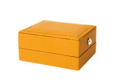 Brown box for jewelry Royalty Free Stock Image