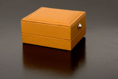 Brown box for jewelry Stock Photos