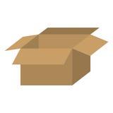 Brown box open icon. Illustraction design image Royalty Free Stock Photo