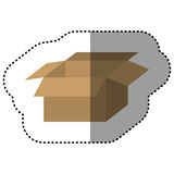 Brown box open icon Stock Image